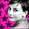 Audrey Hepburn - pink and black