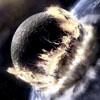 Moon Crashing into the Earth