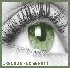 green devil eyes